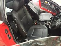 BMW E46 black leather interior