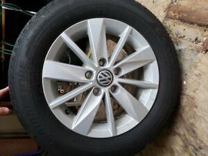 """VW GOLF 15"""" RIMS AND TIRES"""