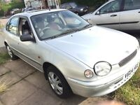 Toyota Corolla 1.3 l with LPG fitted smooth running, nice and clean engine and car
