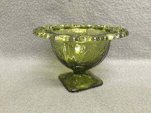Collectible AntiqueNice Green Dish with Pierced Rim