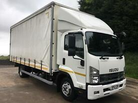 2012 12 ISUZU F110.210 Euro 5, 20ft curtainsider, tail-lift, manual gearbox