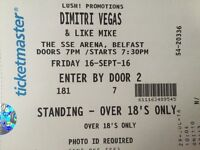 Dimitri Vegas & Like Mike ticket SSE Arena