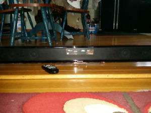 Samsung soundbar and wireless & active subwoofer with remote