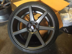 """Awesome Used Vossen CV9 20*9"""" with Performance Tire 275/30/20"""
