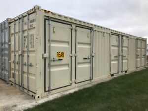 Shipping container with 6 MAN DOORS   ADM STORAGE