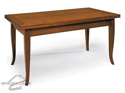Tavolo rettangolare apribile in legno massello