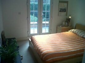 Double room with private terrace in 2 bed flat