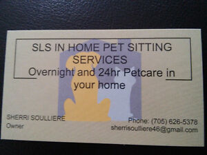 Insured-bonded in yr home Petsitter