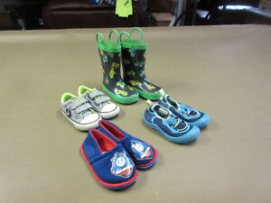 FOUR PAIR OF LIKE NEW TODDLER FOOT WEAR SIZE 7... $25.00
