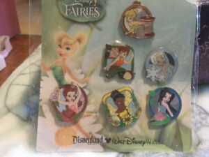 Disney Fairies pin set brand new in sealed package