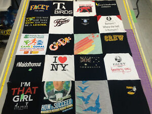 Upcycle your t-shirts into t-shirt quilts!
