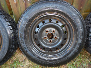 4 Goodyear Nordic Winter Tires with Rims Cambridge Kitchener Area image 2