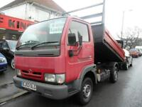NISSAN CABSTAR FLATBED TIPPER COMPLETE WITH M.O.T HPI CLEAR INC WARRANTY NO VAT