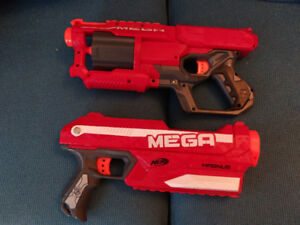"NERF Mega ""Cycloneshock"" and ""Magnus"""