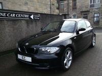07 57 BMW 116i ES SPORTS HATCH 3DR BLACK LEATHER SPORTS SEATS ALLOYS AIRCON FSH