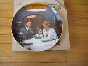"Norman Rockwell Collector Plate ""The Tycoon"" Cambridge Kitchener Area image 5"