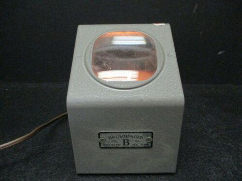 "Vintage Brumberger Slide Viewer 35mm  To 2-3/4"" X 2-3/4"" Slides - WORKING"
