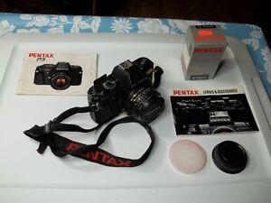 Vintage PentaxP3 SLR 35mm Camera, Lens & AF160Sa Auto Flash