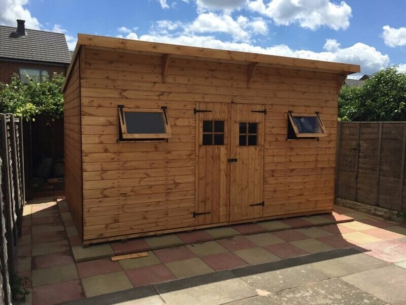 aston sheds 14x10ft heavy duty extra tall the colossus pent garden