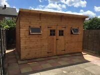 ASTON SHEDS 14x10FT HEAVY DUTY EXTRA TALL **THE COLOSSUS** PENT GARDEN/STORAGE TIMBER T&G SHED.