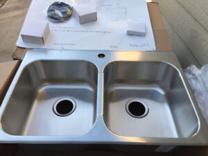 Evier cuisine lavabo neuf à 100% new Double sink stainless steel