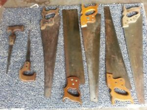 Vintage Hand saws,1869-early 1900s,and Homemade Carrybox