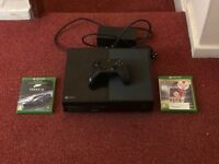 Xbox one with 1 controller. Fifa 16, Forza 6. call of duty black ops 3 and BF4 downloaded on console