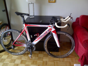 Ridley time trial bike with power meter