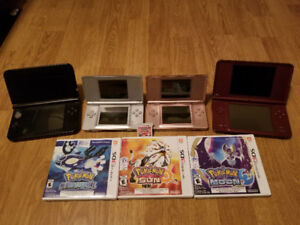 3DS XL  DS XL & 2 DS LITES FOR SALES WITH GAMES SEPARATE