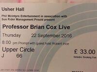 Prof Brian cox live ticket
