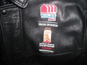 2010 IIHF World Junior Championship Leather Jacket London Ontario image 2