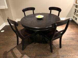 Crate and Barrel Dining room table and 4 chairs