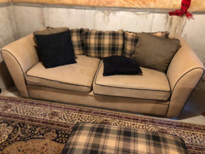 Couch, Loveseat and Ottoman for sale.