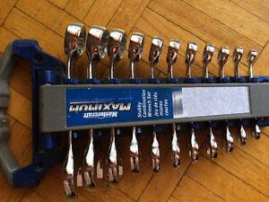 Stubby combination set: Chrome-vanadium steel