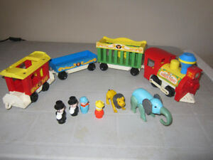 Train Fisher Price Play set 991, avec animaux & personnages