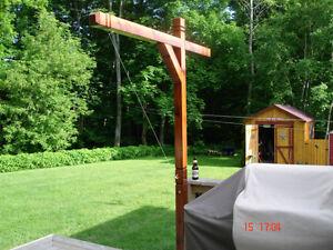 Custom Made Cedar post - Brass- Ring Toss Game Kingston Kingston Area image 8