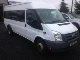Ford TRANSIT only 47000 miles 11 reg NO VAT euro 4 115 T430 17 seat RWD