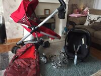Quinny zapp xtra and car seat and footmuff avalabile separate