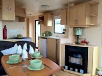 CHEAP STATIC CARAVAN FOR SALE 2 BEDROOM NORTH EAST , PET FRIENDLY , SITE FEES INCLUDED , SEA VIEWS