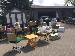 MOVING MUST SELL EVERYTHING! ANTIQUES OUTDOOR FURNITURE CLOTHING