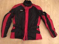 Rst motorbike textile jacket. LARGE. Full armour. Alpinestars leathers style