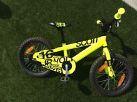 """Scott boys bike voltage 16"""" RRP £200 - approx age 4-7 years like new"""