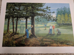 James Lumbers IF ONLY Golf Print Limited Edition NEW!