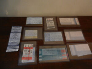 Classic Rock Ticket Stubs Stones, Sabbath,Alice Cooper,Halen etc