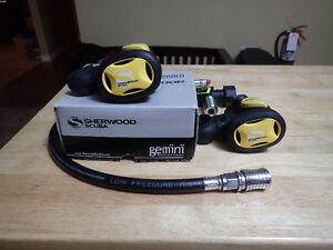 Two Sherwood Gemini Breathable Inflators for Scuba Diving