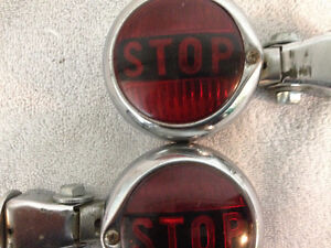 """2 rare """"STOP"""" taillights"""
