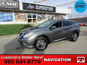 2017 Nissan Murano SV  AWD NAV ROOF CAM PWR-GATE 8W-P/SEAT HTD-S