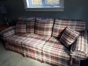 Couch, matching chair and Ottoman