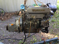 Used diesel Yanmar Sailboat engine and transmission for sale