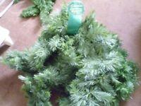 Christmas Garlands. 9' long. Unused